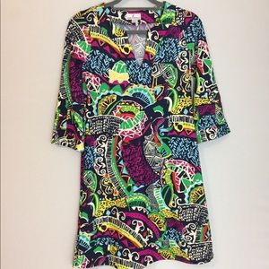 {JUDE CONNALLY} ABSTRACT PRINTED TUNIC DRESS